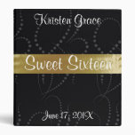 Black and Gold Sweet Sixteen Photo Album. Binder