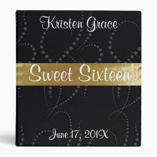 Black and Gold Sweet Sixteen Photo Album. Binder