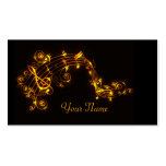Black and Gold Swirling Musical Notes Double-Sided Standard Business Cards (Pack Of 100)
