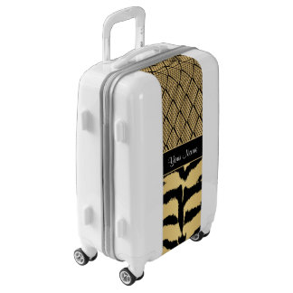 Black and Gold Tiger Animal Pattern Luggage
