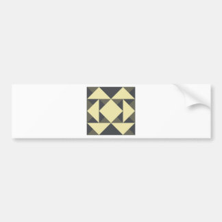 Black and gold triangles bumper sticker