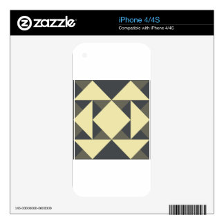 Black and gold triangles iPhone 4 decal