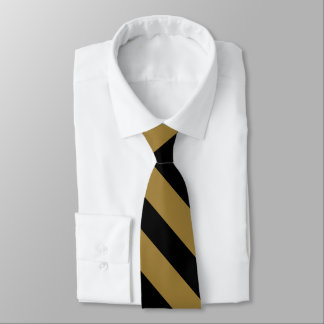 Black and Gold University Stripe Tie