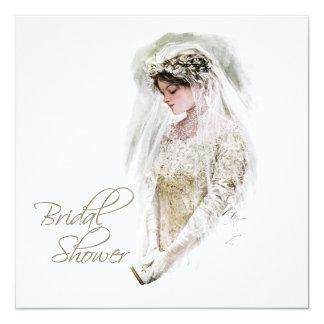Black and Gold Vintage Bridal Shower Card
