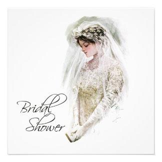 Black and Gold Vintage Bridal Shower Invites