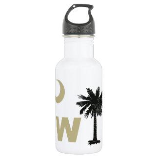 Black and Gold W South Carolina 18oz Water Bottle