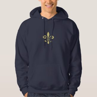 Black and Gold Washout Fleur De Lis