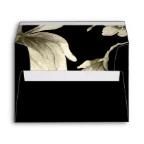 Black and Gold wedding Envelope