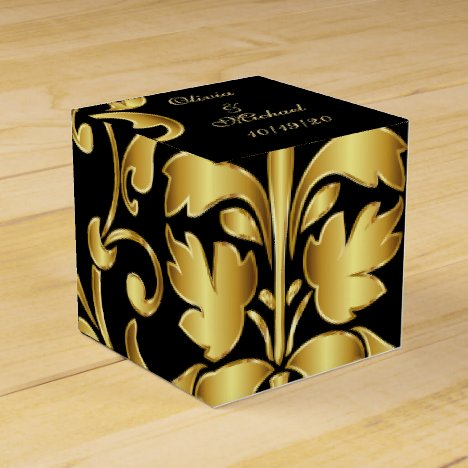 Black and Gold Wedding Favors Box