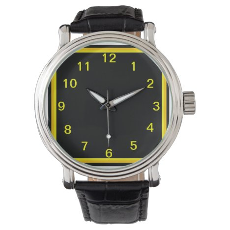 Black and Gold What a Steel Watch
