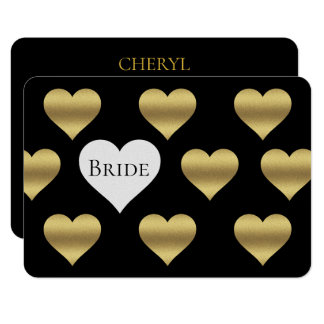 Black And Gold Will You Be My Bridesmaid MOH Cards