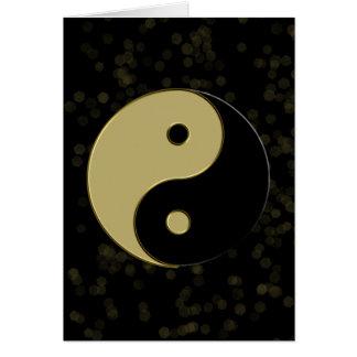 black and gold yin yang card