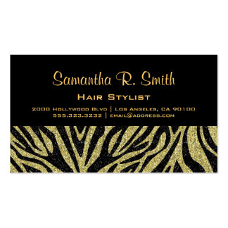Black and Gold Zebra Professional Business Card