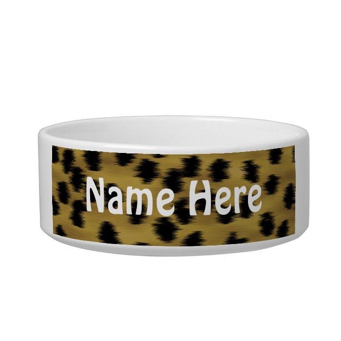 Black and Golden Brown Cheetah Print Pattern. Bowl