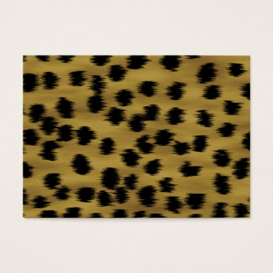Black and Golden Brown Cheetah Print Pattern. Business Card