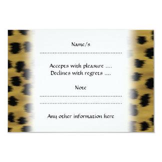 Black and Golden Brown Cheetah Print Pattern. Card