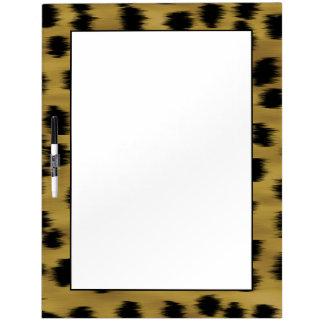 Black and Golden Brown Cheetah Print Pattern. Dry Erase Board