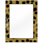 Black and Golden Brown Cheetah Print Pattern. Dry Erase Boards