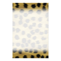 Black and Golden Brown Cheetah Print Pattern. Flyer