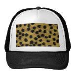 Black and Golden Brown Cheetah Print Pattern. Trucker Hat