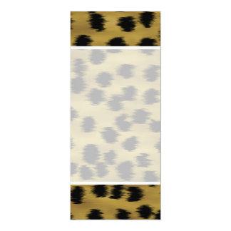 Black and Golden Brown Cheetah Print Pattern. 4x9.25 Paper Invitation Card