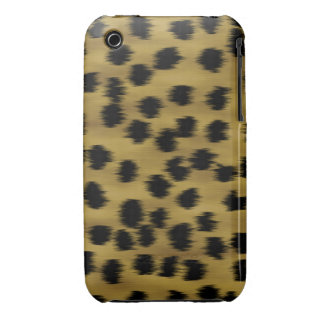 Black and Golden Brown Cheetah Print Pattern. iPhone 3 Case-Mate Case