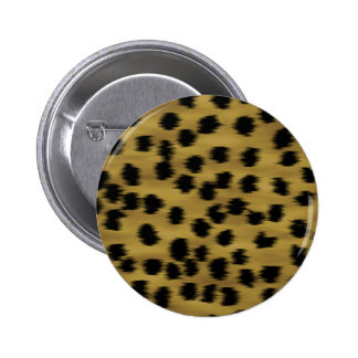 Black and Golden Brown Cheetah Print Pattern. Pinback Button