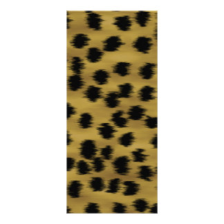 Black and Golden Brown Cheetah Print Pattern. Rack Card