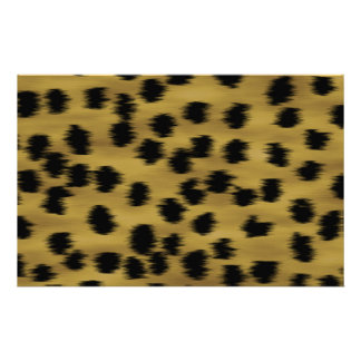 Black and Golden Brown Cheetah Print Pattern. Stationery