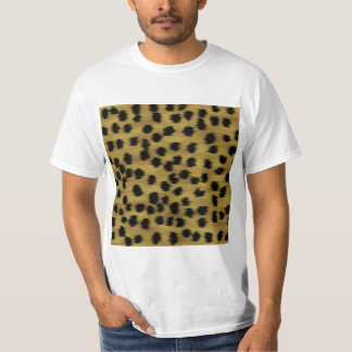 Black and Golden Brown Cheetah Print Pattern. T-Shirt