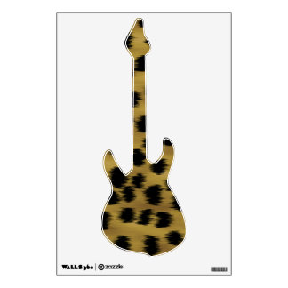 Black and Golden Brown Cheetah Print Pattern. Wall Decal