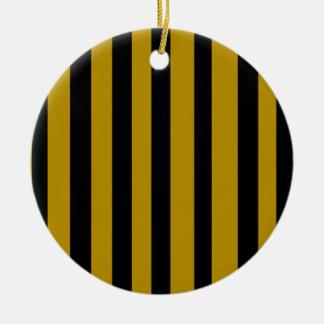 Black and golden stripes ceramic ornament