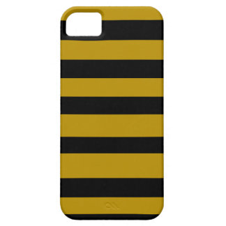 Black and golden stripes iPhone 5 cover