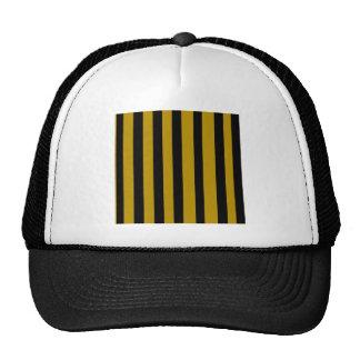 Black and golden stripes mesh hat