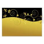 Black and golden swirls card