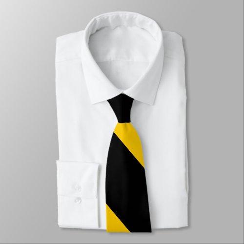 Black and Golden Yellow Broad University Stripe Tie