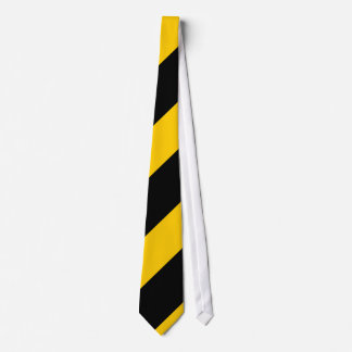 Black and Golden Yellow Neck Tie