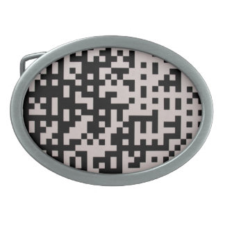 Black and gray 8bit pixels belt buckle