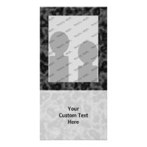 Black and Gray Abstract Pattern Card