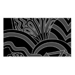 Black and Gray Art Deco Design. Business Card Templates
