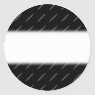 Black and Gray Background Design, Thin Ovals. Classic Round Sticker
