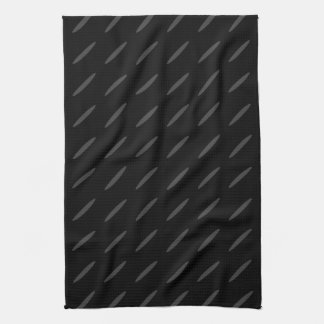 Black and Gray Background Design, Thin Ovals. Kitchen Towel