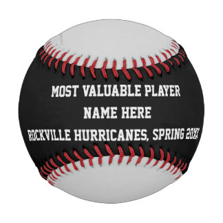 Black and Gray Baseball, MVP Player Award Baseball