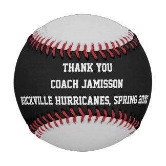 Black and Gray Baseball, Thank You to Coach Baseball