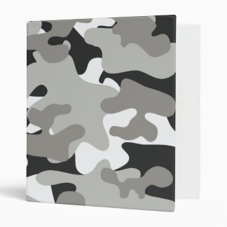 Black and Gray Camo Binder