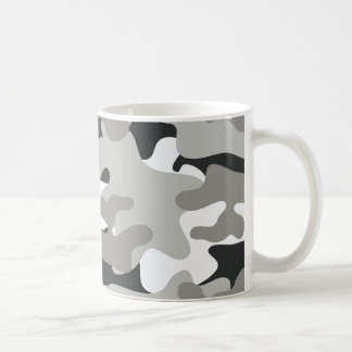Black and Gray Camo Coffee Mug