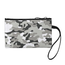 Black and Gray Camo Coin Purse