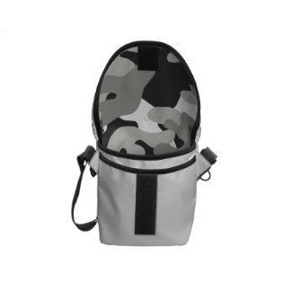 Black and Gray Camo Courier Bag