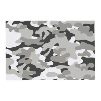 Black and Gray Camo Design Placemat