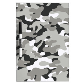 Black and Gray Camo Dry-Erase Board